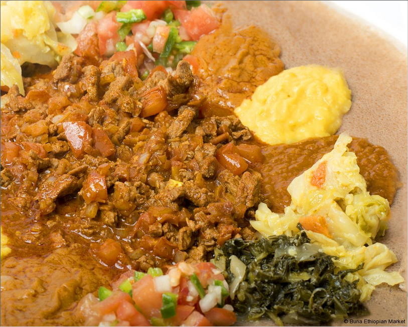 Firfir Tossed With Injera